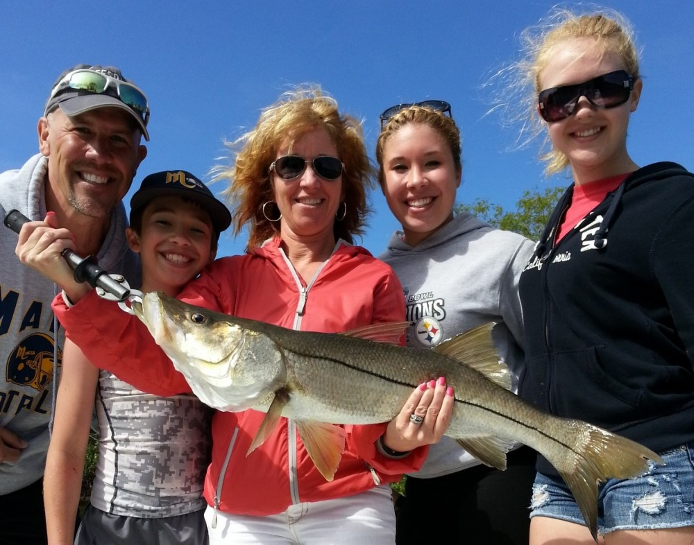 The inshore slam part 1 the snook for Fishing charters tampa